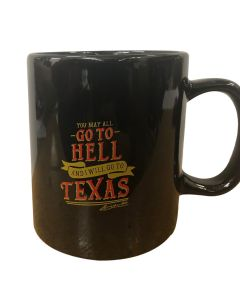 Black ''Go To Texas'' Mug
