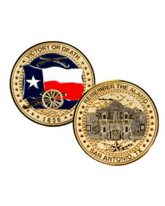 """Remember the Alamo"" Challenge Coin"