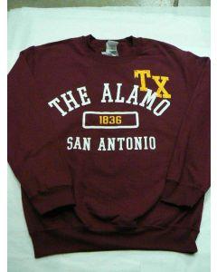 Adult Maroon Alamo Sweatshirt