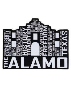 Black and White Alamo Magnet