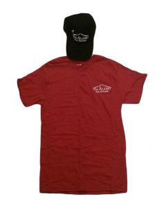 Adult Alamo Cap and Tee Combo (Cardinal / Black)
