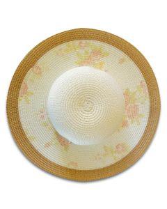 Wide Brim Pastel Floral Sun Hat