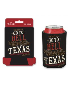 Black ''Go To Texas'' Can Cooler