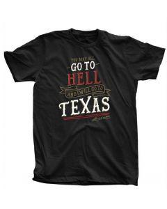 Adult Black ''Go To Texas'' Tee