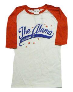 Girls' ''The Alamo'' Glitter Baseball Tee
